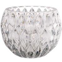 Teelichtglas Retro klar 8x6cm