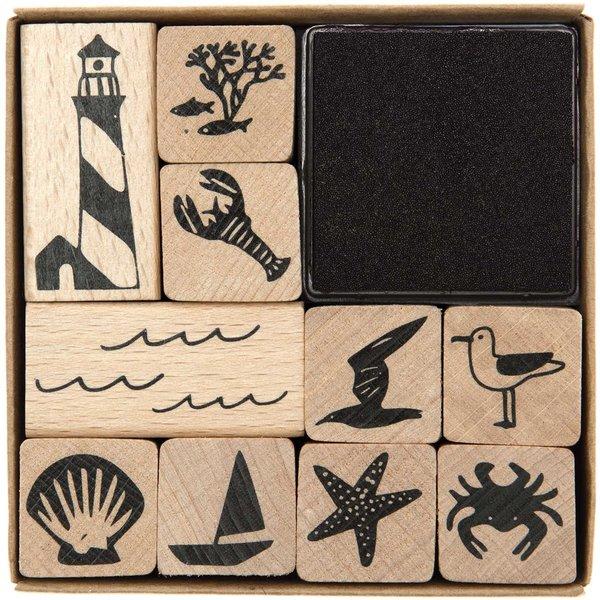 Paper Poetry Stempelset Maritim 10 Stück