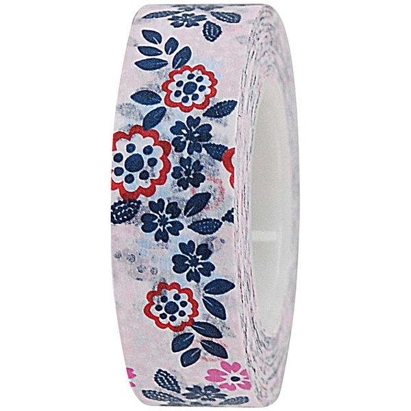 Rico Design Tape Blumen rosa 15mm 10m