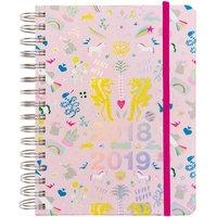 Paper Poetry Agenda 2018-2019 Wonderland rosa 16,5x22cm