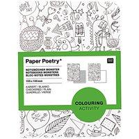 Paper Poetry Notizbuch A6 Monster zum Ausmalen 2 Stück