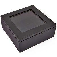 Rico Design Schmuckschatulle schwarz 12,5x12,5x5cm