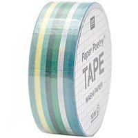 Paper Poetry Tape Streifen grün-irisierend 1,5cm 10m