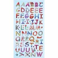 HobbyFun SoftySticker Design Buchstaben mehrfarbig 17,5x9cm