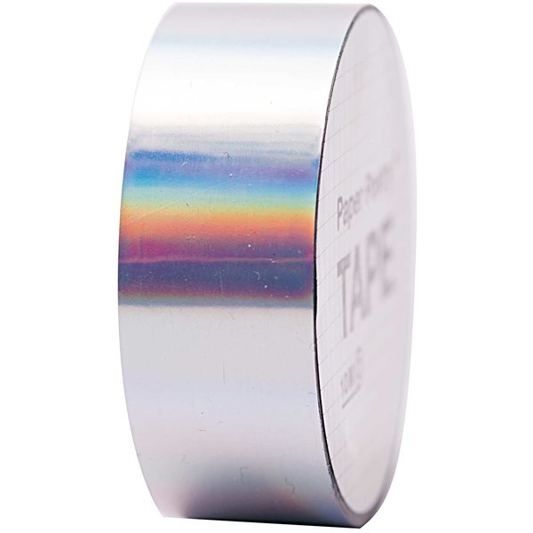 Paper Poetry Holographic Tape silber irisierend 19mm 10m
