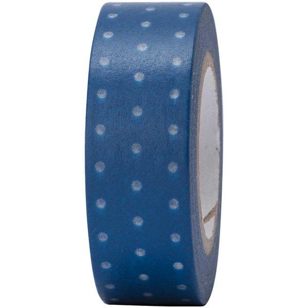 Paper Poetry Tape blau-weiß gepunktet 15mm 10m
