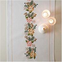 Rico Design Stickpackung Läufer Weihnachtsstern 45x100cm