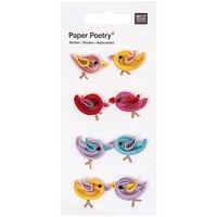 Paper Poetry Quilling Sticker mehrfarbige Vögel