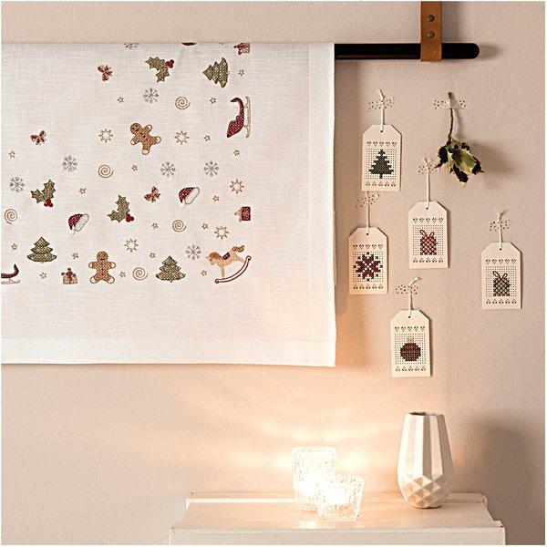 Weihnachtsdeko Zum Kaufen.Rico Design Stickpackung Decke Weihnachtsdeko 90x90cm