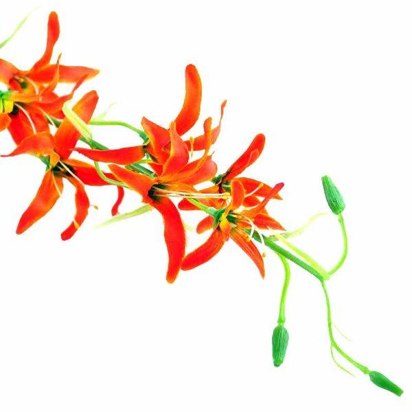 Orchidee Rispe rotorange 82cm