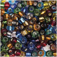 Jewellery Made by Me Glasperlen mit Silbereinzug multicolor 6x4mm