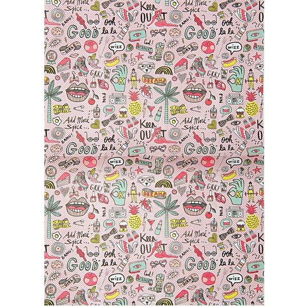 Rico Design Paper Patch Papier cool Girls neon 30x42cm