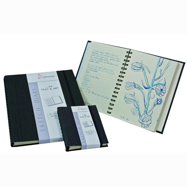 Hahnemühle Sketch Diary Notiz-& Skizzenbuch schwarz A5 60 Blatt