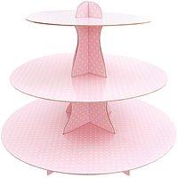 Rico Design Etagere Pappe rosa-weiß 33cm