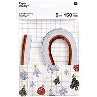 Paper Poetry Quilling Bastelset X-MAS weiß 5mm 150 Stück