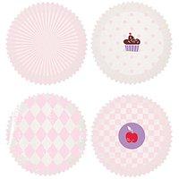 Rico Design Backförmchen klein weiß-rosa 3,5cm 100 Stück