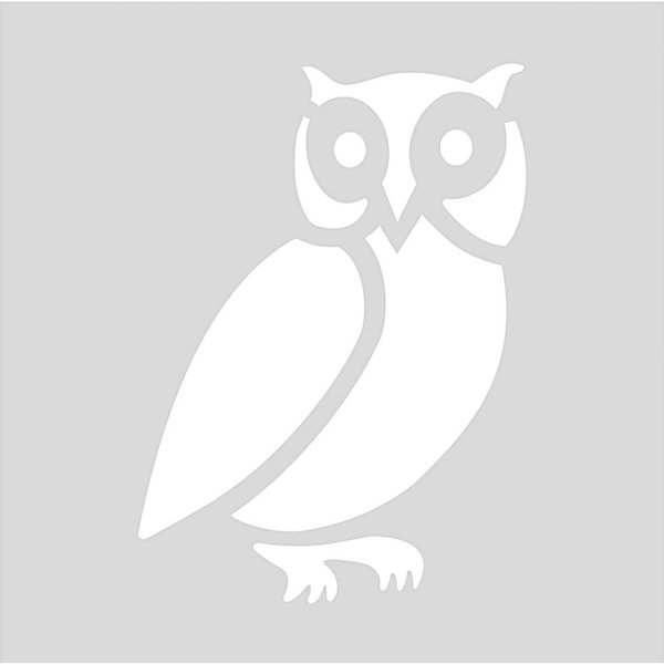 Rico Design Schablone Eule 7,5x7,5cm selbstklebend