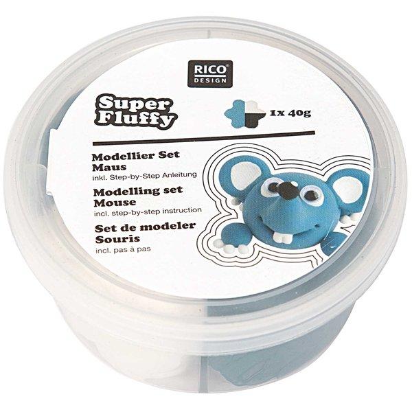 Rico Design Super Fluffy Set Maus 40g