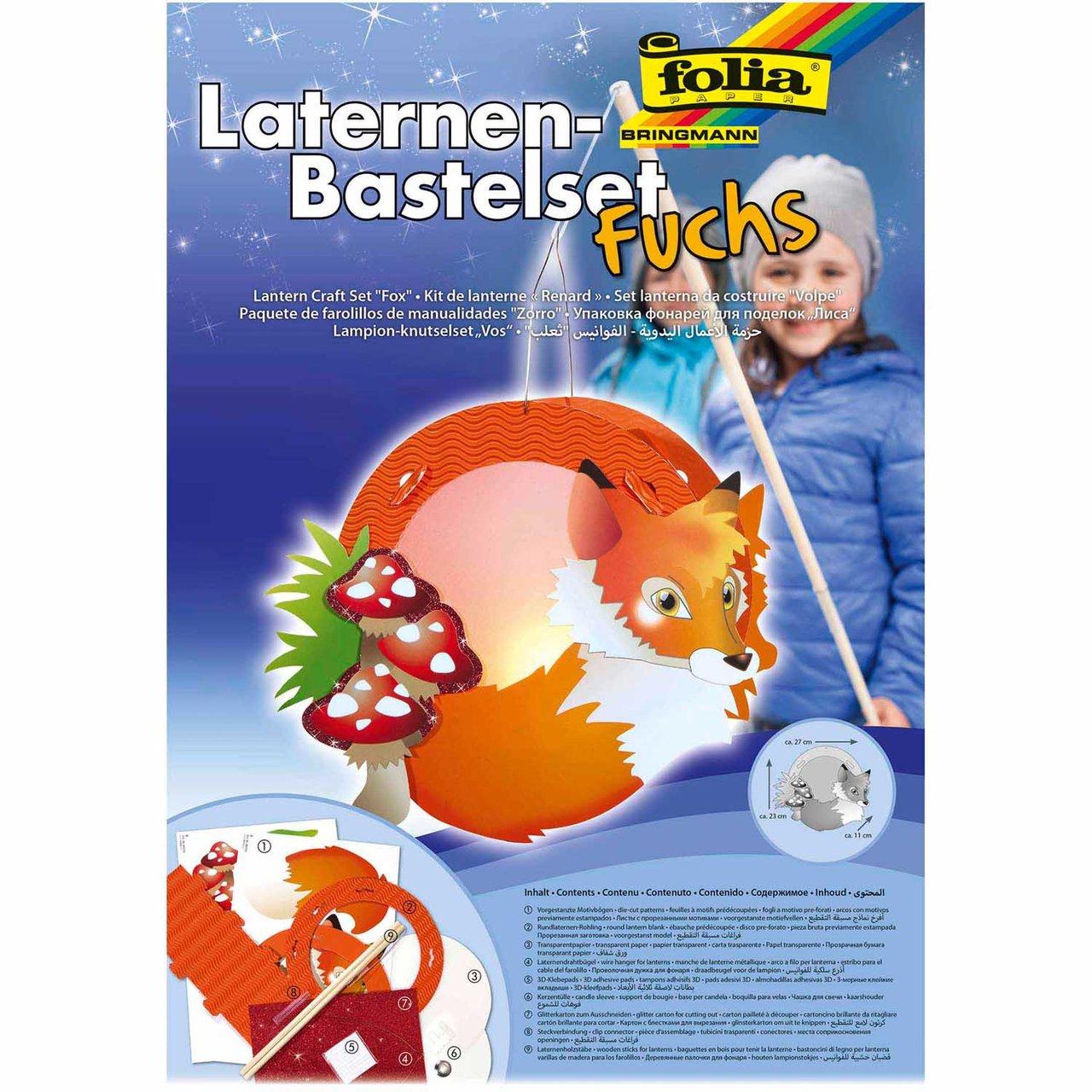 folia Laternen Set Fuchs