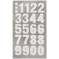 Paper Poetry Office Sticker Zahlen weiß 4 Bogen