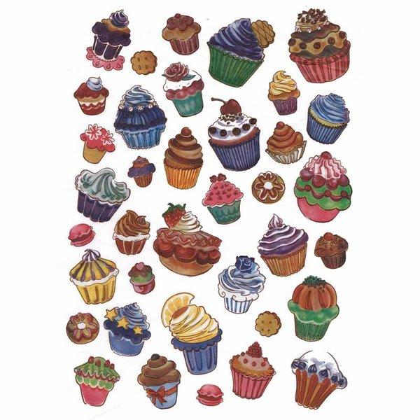 décopatch Papier Cupcakes 3 Bogen