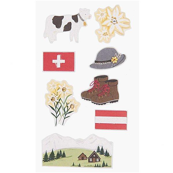 Paper Poetry 3D Sticker Österreich-Schweiz