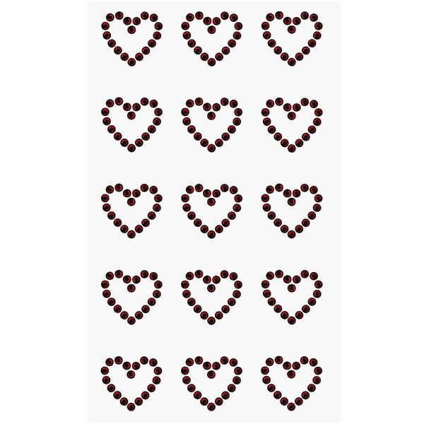 Paper Poetry Strass-Sticker Herzen rot