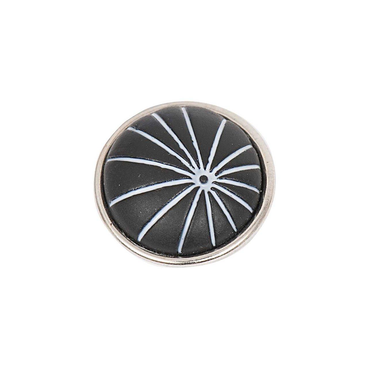 Rico Design Knopf Strahlen schwarz 14mm