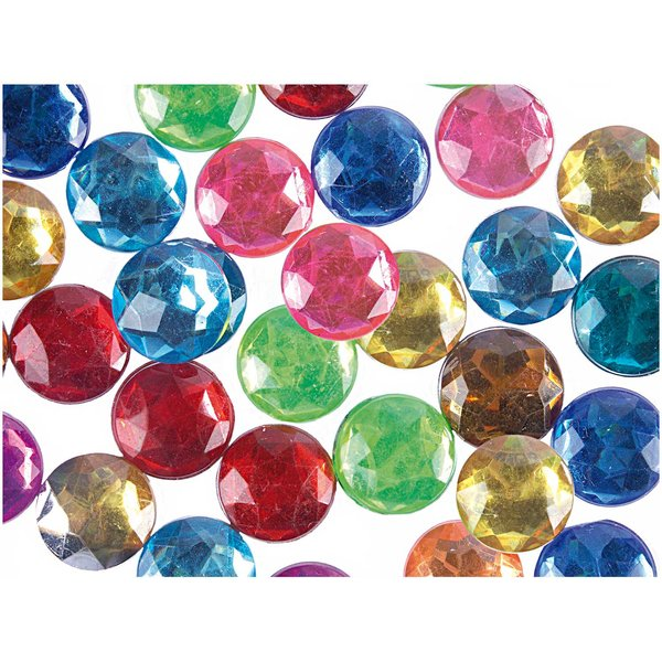 Rico Design Strass Kreis mehrfarbig 60 Stück