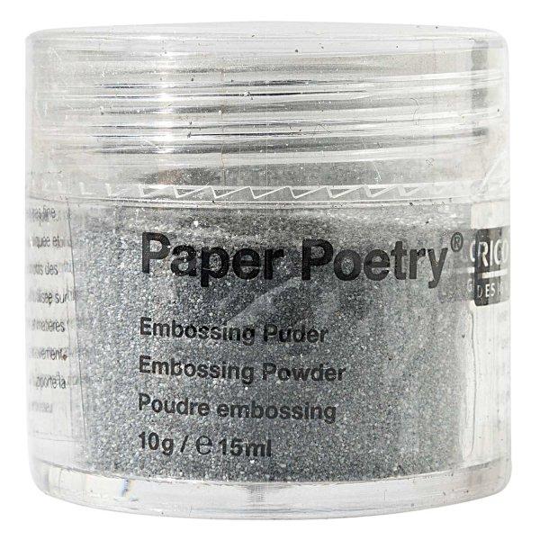 Paper Poetry Embossingpuder silber matt 10g