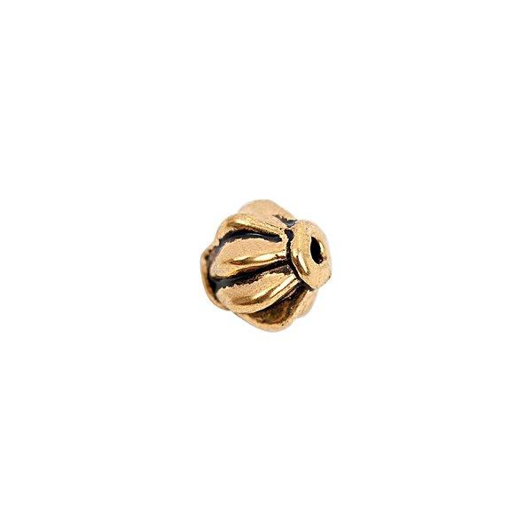 Rico Design Perle geriffelt schwarz-gold 6mm 15 Stück
