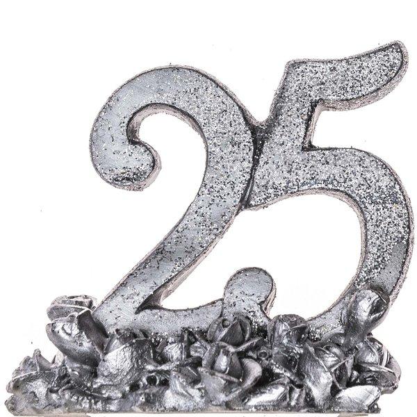 Deko Zahl 25 Silber 68cm Günstig Online Kaufen