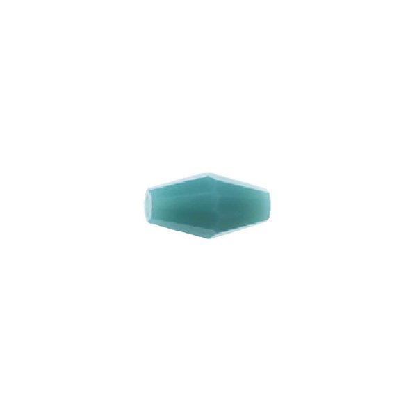 Rico Design Glasschliffperle petrol 9x4mm 10 Stück