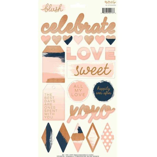 MyMindsEye Blush -Sticker Sheet 15,2x30,5cm