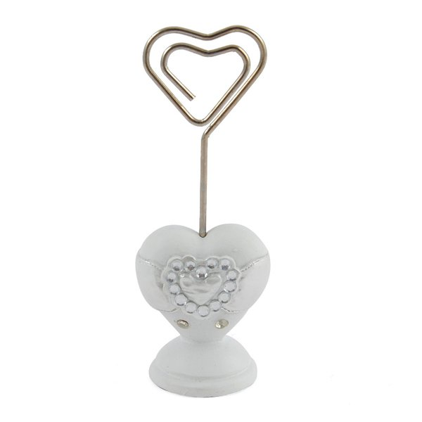 Kartenhalter Heart weiß 9cm