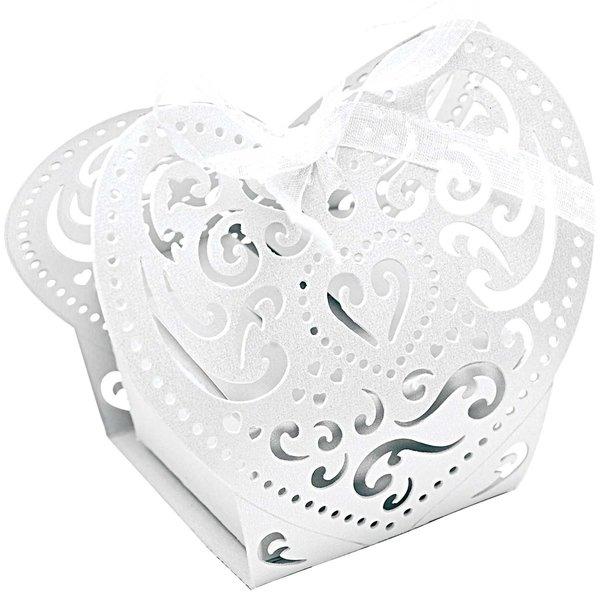 Rico Design Pralinenschachtel Herz 5x5x7cm 3 Stück