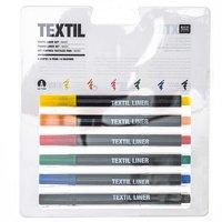 Rico Design Textil Liner basic 6 Farben