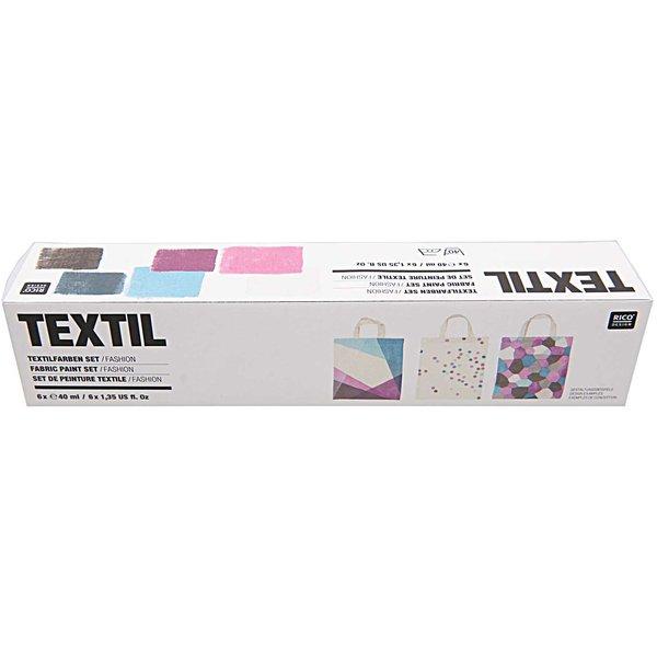 Rico Design Textilfarben fashion 6x40ml