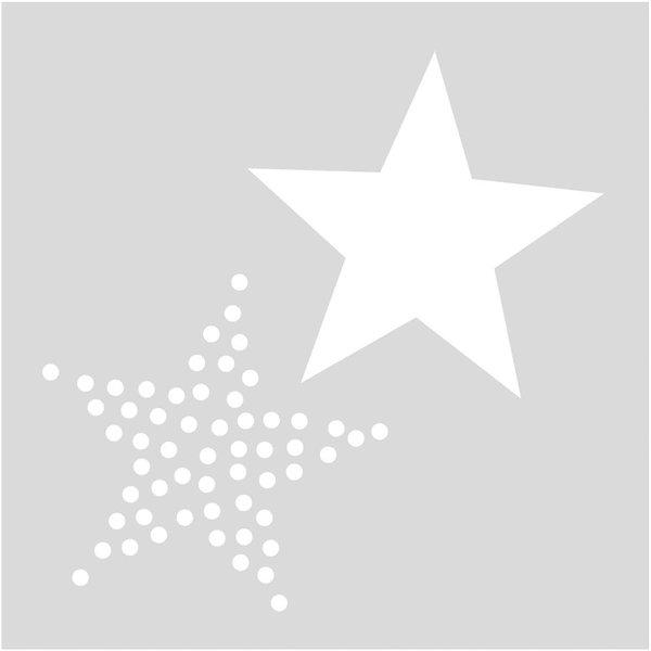 Rico Design Schablone Sterne 7,5x7,5cm selbstklebend