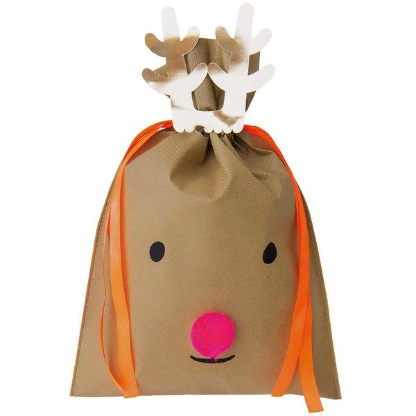 Paper Poetry Geschenktüte Nostalgic Christmas Rentier dunkelbraun 30x45cm