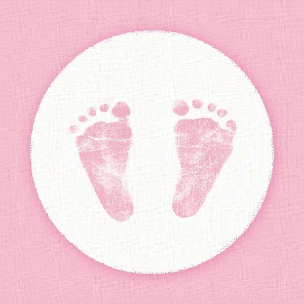 Ambiente Serviette Baby Steps Girl 33x33cm 20 Stück