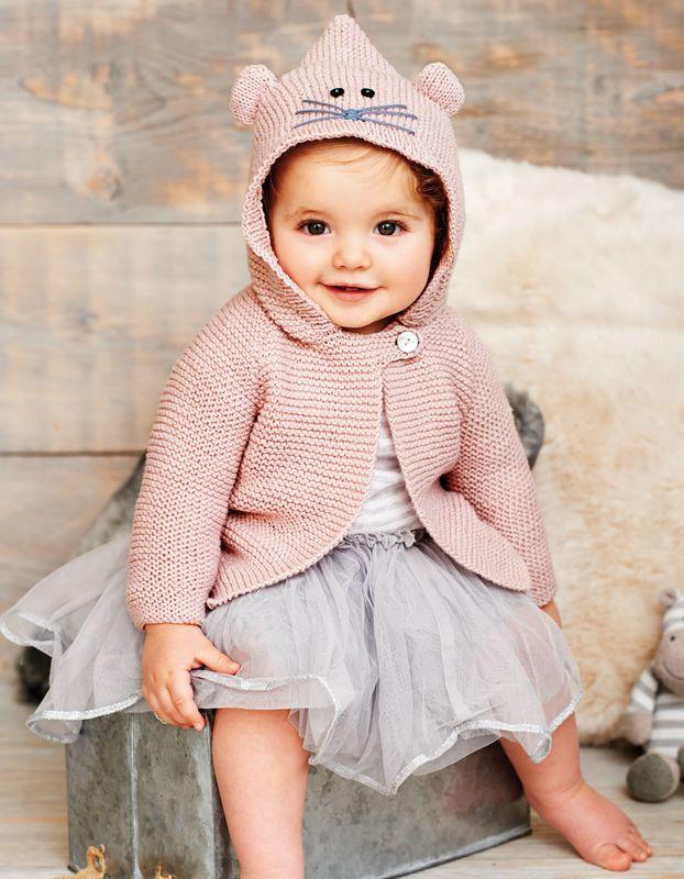 Babyjacke Mit Kapuze Gratis Strickanleitung Umsetzen