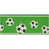 hotex Motivband Fußball dunkelgrün 4cm 3m