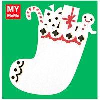 Rico Design Sticky Notes Weihnachtsstrumpf 50 Stück