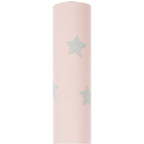 Paper Poetry Geschenkpapier Nostalgic Christmas Sterne rosa 70cm 2m