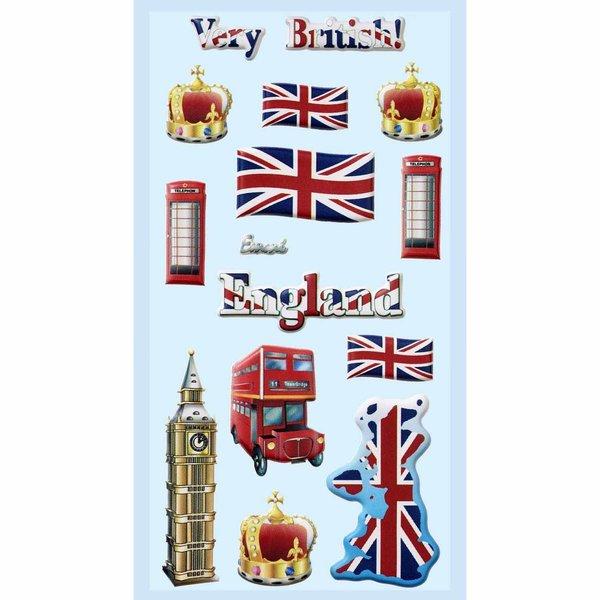HobbyFun SoftySticker England 17,5x9cm