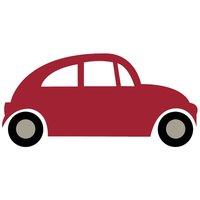 Rico Design Appliqué Auto rot 10,4x5cm
