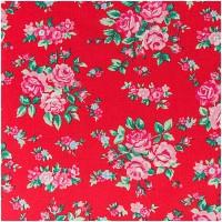 Rico Design Stoff Blumen rot-rosa 160cm