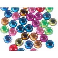 Rico Design Strass Kreis ohne Schliff mehrfarbig 60 Stück