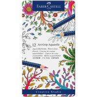 Faber Castell Art Grip Farbstift Aquarelle Metalletui 12teilig